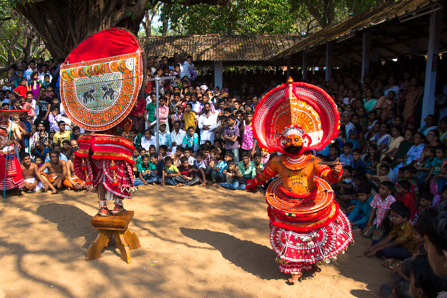 Fear is main element of Theyyam dance.