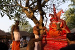 And circling the holy tree at the temple premises