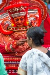 After the dance people get blessings from the theyyam